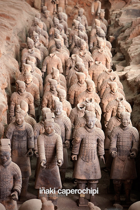 Guerreros de Terracota. Xian. China