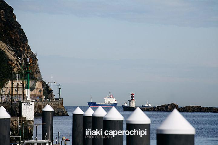 El Buque Captain Nihat entrando en el Puerto