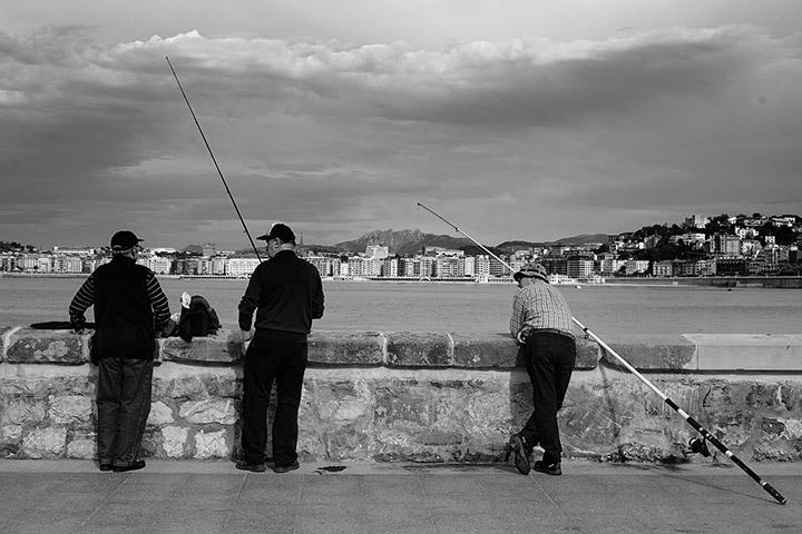 Pescadores en el Tenis