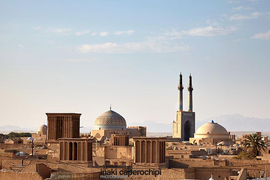 Vistas de Yazd desde los tejados